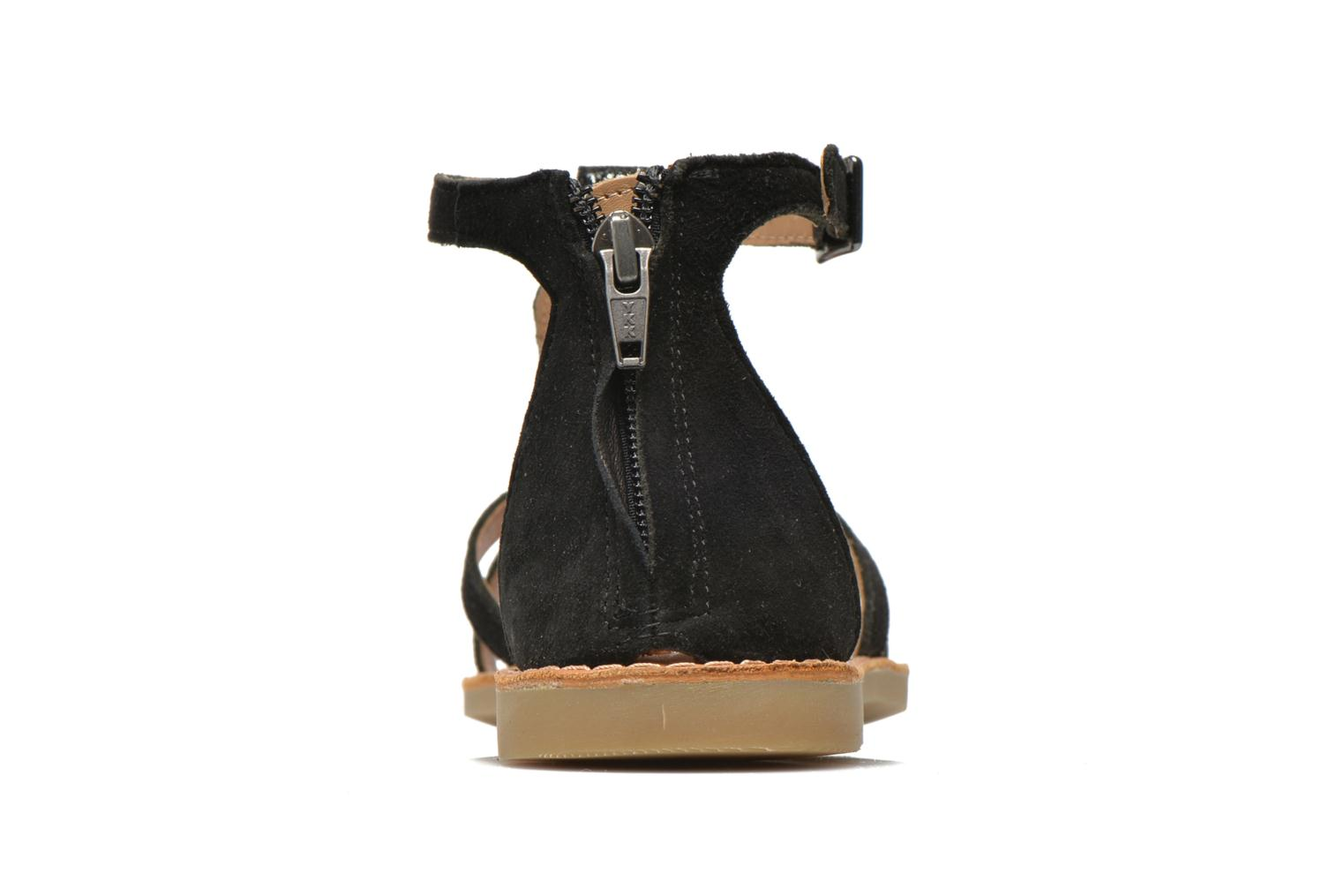 Sandals Shwik Lazar Fringe Suede Black view from the right