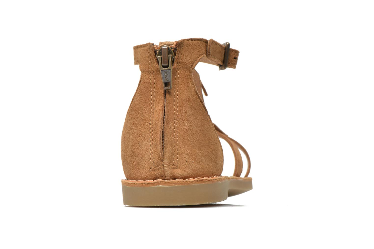 Sandals Shwik Lazar Fringe Suede Brown view from the right