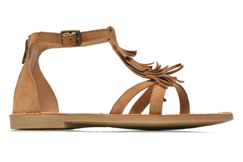 Sandali e scarpe aperte Shwik Lazar Fringe Suede Marrone immagine posteriore
