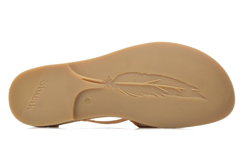 Sandali e scarpe aperte Shwik Lazar Fringe Suede Marrone immagine dall'alto