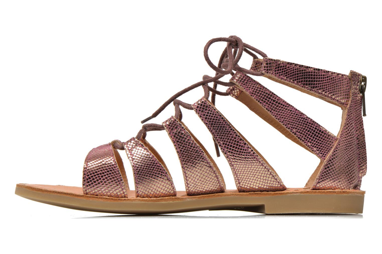 Sandals Shwik Lazar Hi Lace Pink front view
