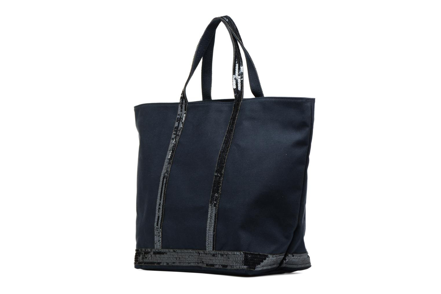 Handbags Vanessa Bruno Cabas M+ Blue view from the right