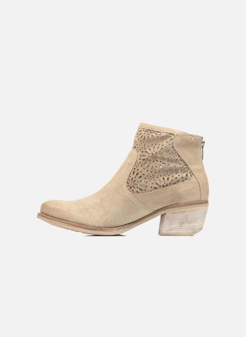Bottines et boots Khrio Aeligana Beige vue face