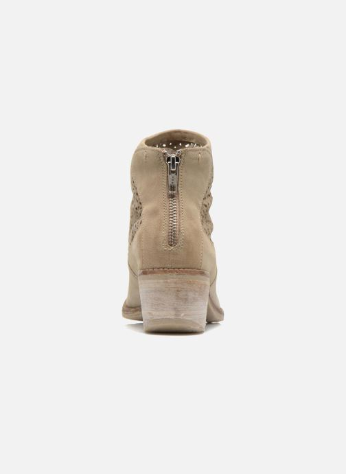 Bottines et boots Khrio Aeligana Beige vue droite