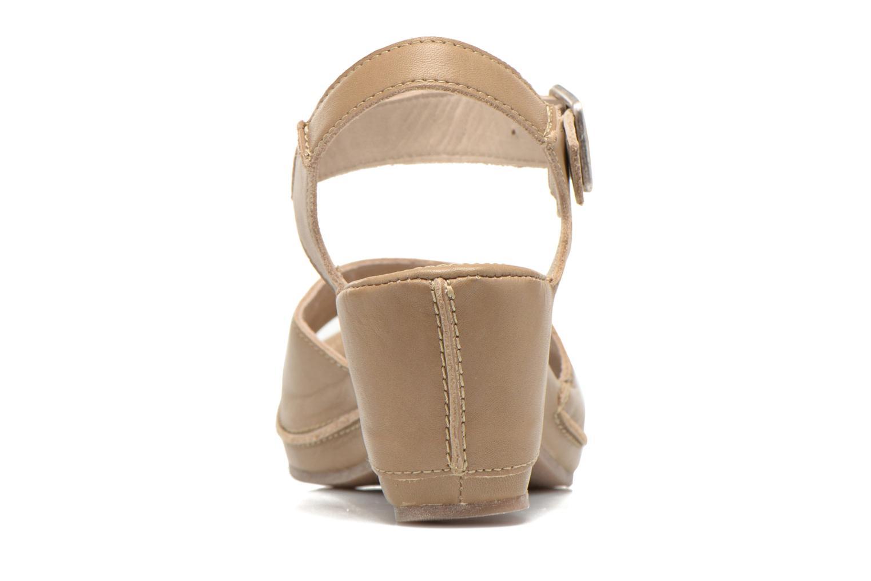 Sandales et nu-pieds Khrio Nuova Beige vue droite