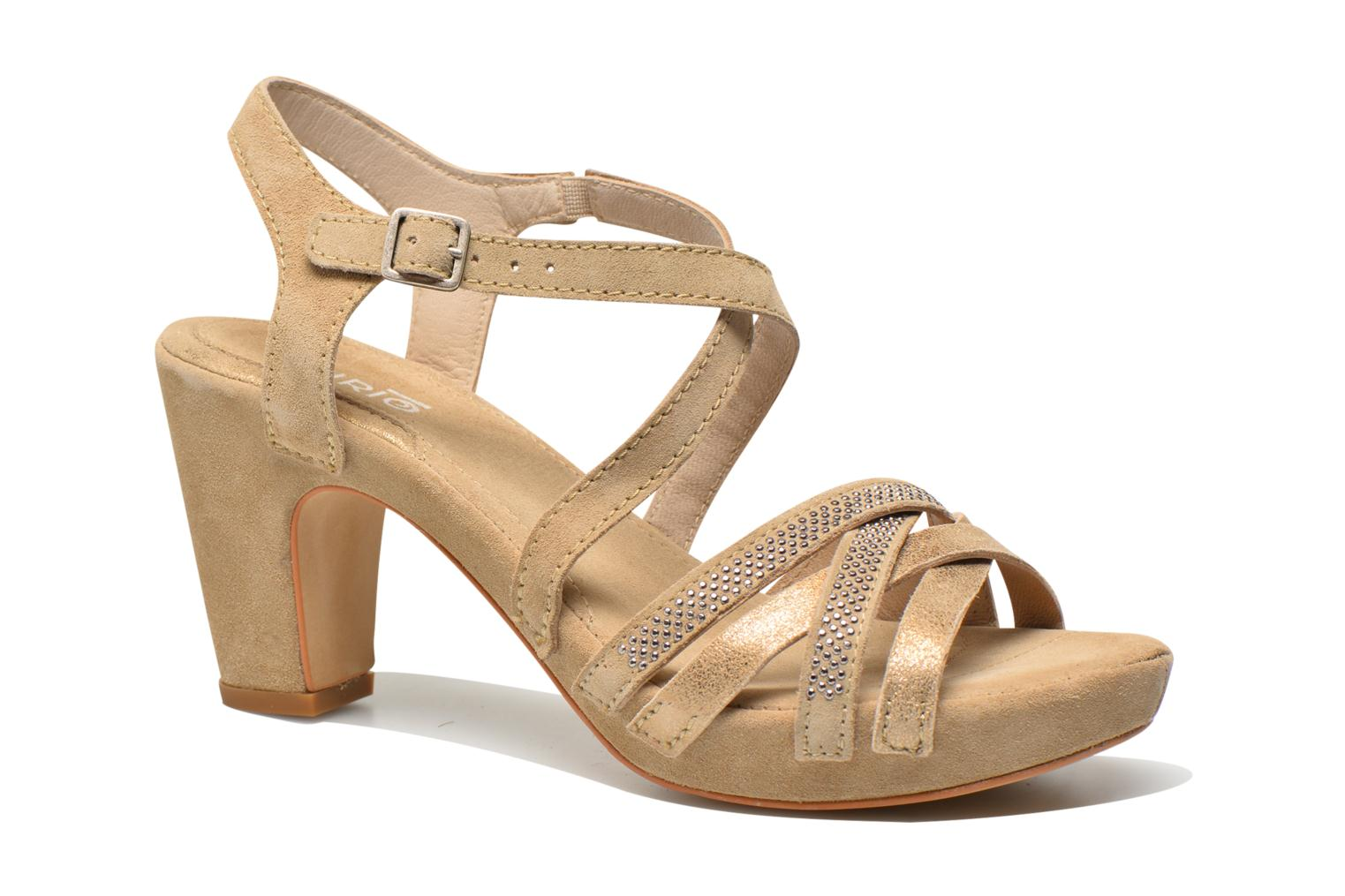 Sandals Khrio Romina Beige detailed view/ Pair view