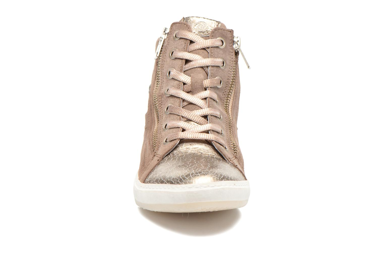 Baskets Khrio Klerviena Or et bronze vue portées chaussures