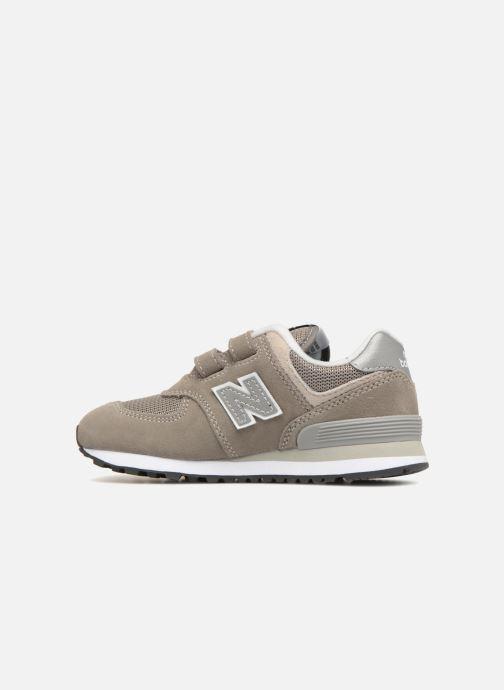 Sneaker New Balance KV574 J grau ansicht von vorne