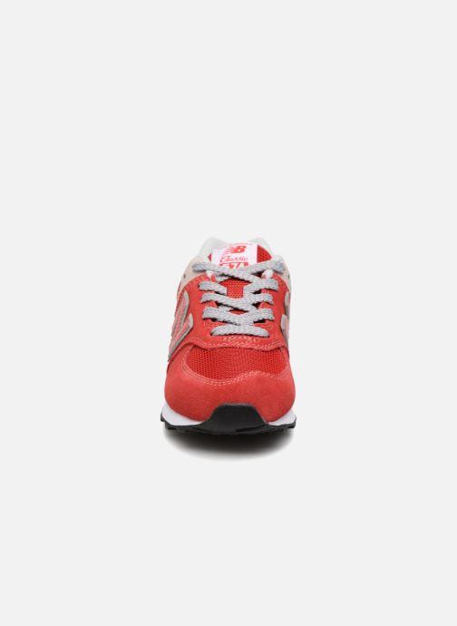 Sneaker New Balance KV574 J rot schuhe getragen