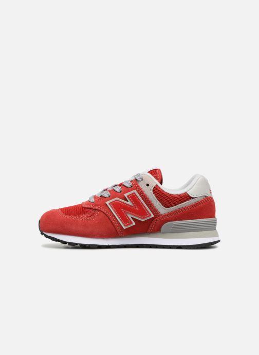 Sneaker New Balance KV574 J rot ansicht von vorne