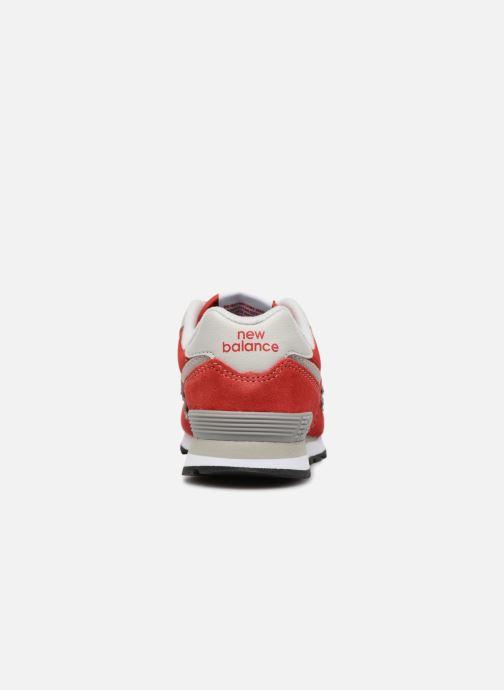 Sneaker New Balance KV574 J rot ansicht von rechts