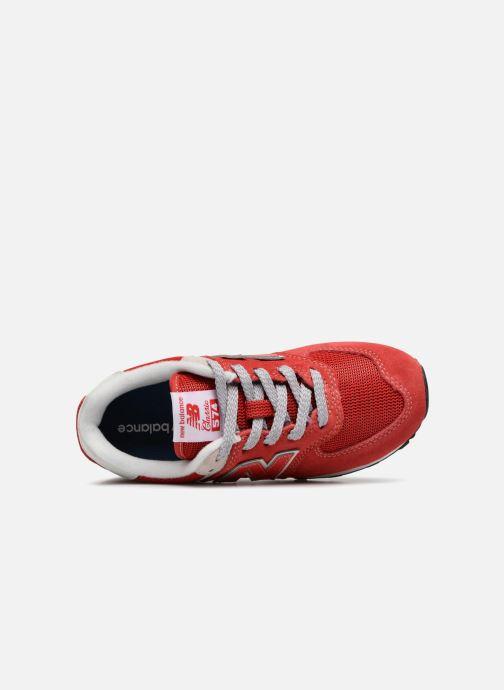 Sneaker New Balance KV574 J rot ansicht von links