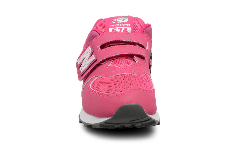 Trainers New Balance KV574 J Pink model view