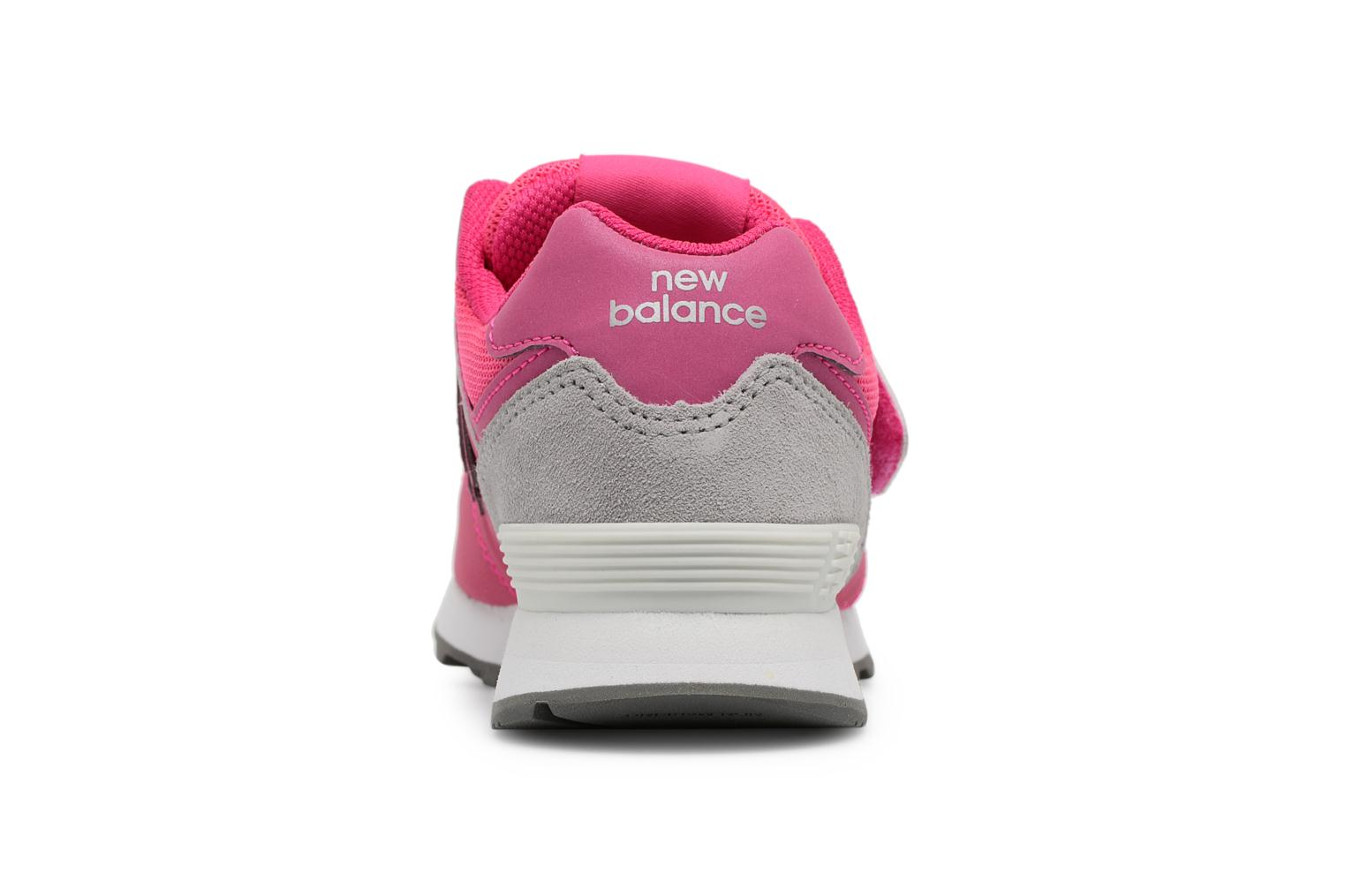 Trainers New Balance KV574 J Pink view from the right