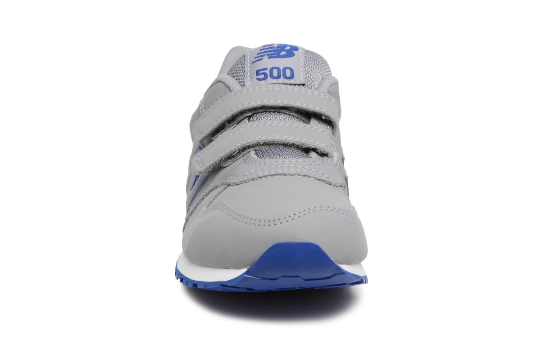 Baskets New Balance KV500 J Gris vue portées chaussures