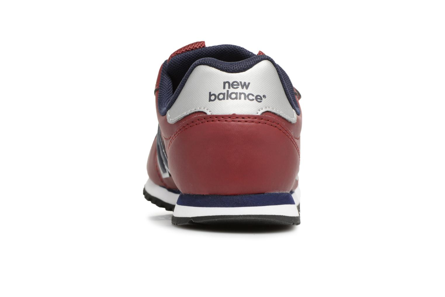 Trainers New Balance KV500 J Burgundy view from the right