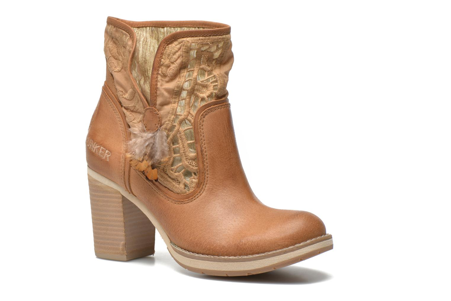 Ankle boots Bunker Grace Row Brown detailed view/ Pair view
