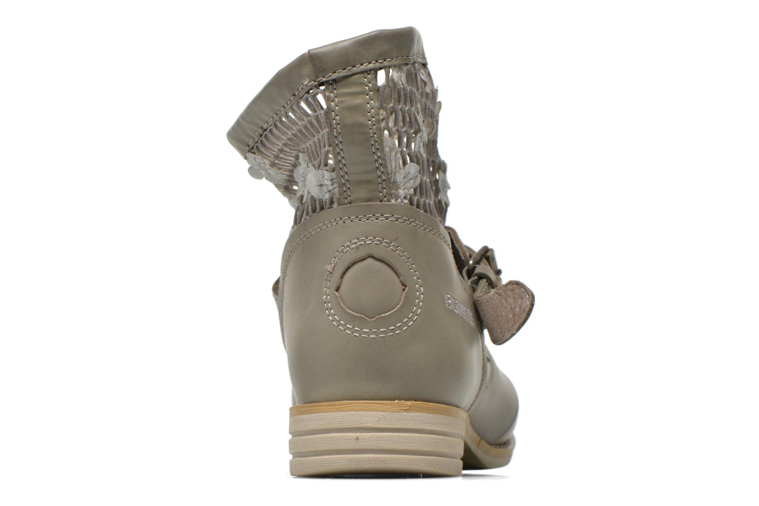 Ankle boots Bunker Sara Tel Beige view from the right