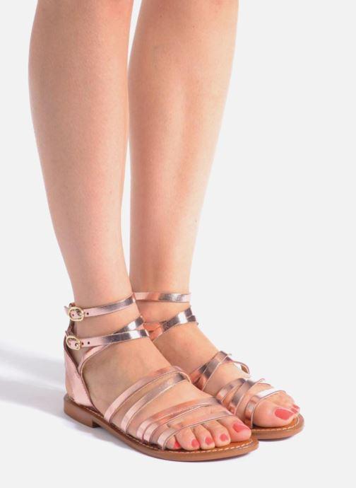 Sandals L'Atelier Tropézien Juliette Pink view from underneath / model view