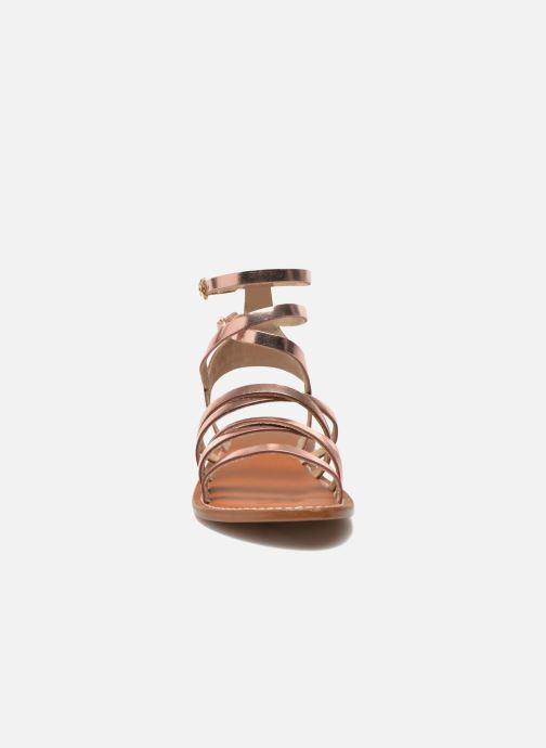 Sandales et nu-pieds L'Atelier Tropézien Juliette Rose vue portées chaussures