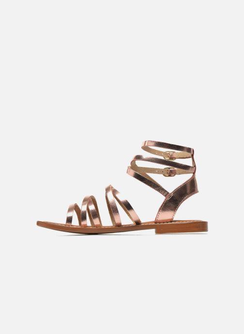Sandals L'Atelier Tropézien Juliette Pink front view