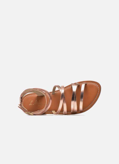 Sandales et nu-pieds L'Atelier Tropézien Juliette Rose vue gauche