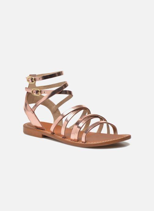 Sandales et nu-pieds L'Atelier Tropézien Juliette Rose vue détail/paire