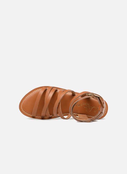 Sandales et nu-pieds L'Atelier Tropézien Juliette Marron vue gauche