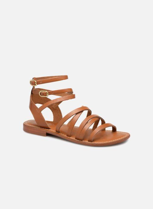 Sandales et nu-pieds L'Atelier Tropézien Juliette Marron vue détail/paire
