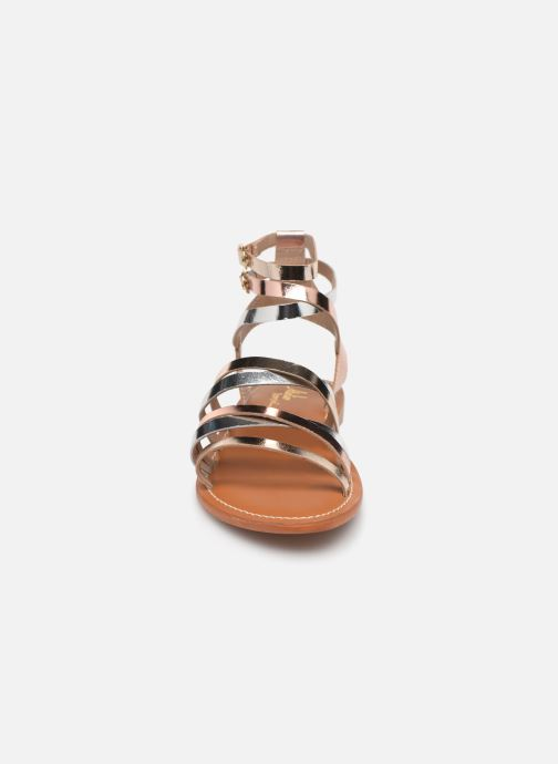 Sandales et nu-pieds L'Atelier Tropézien Juliette Or et bronze vue portées chaussures