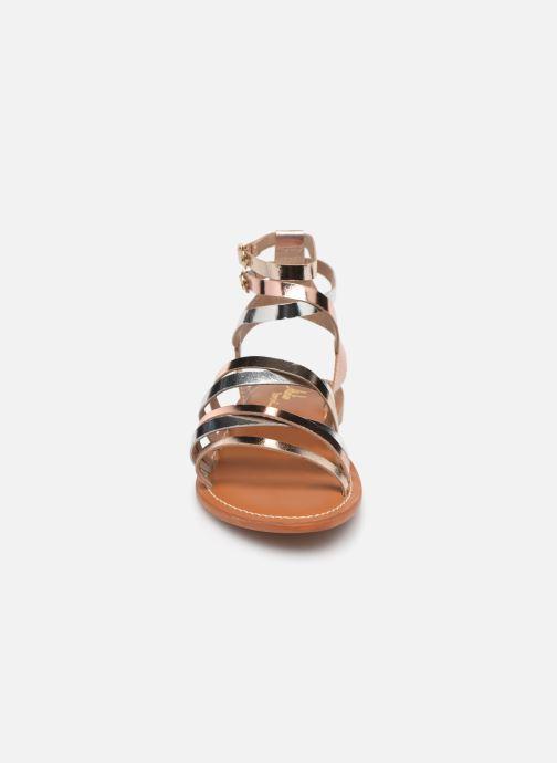 Sandali e scarpe aperte L'Atelier Tropézien Juliette Oro e bronzo modello indossato