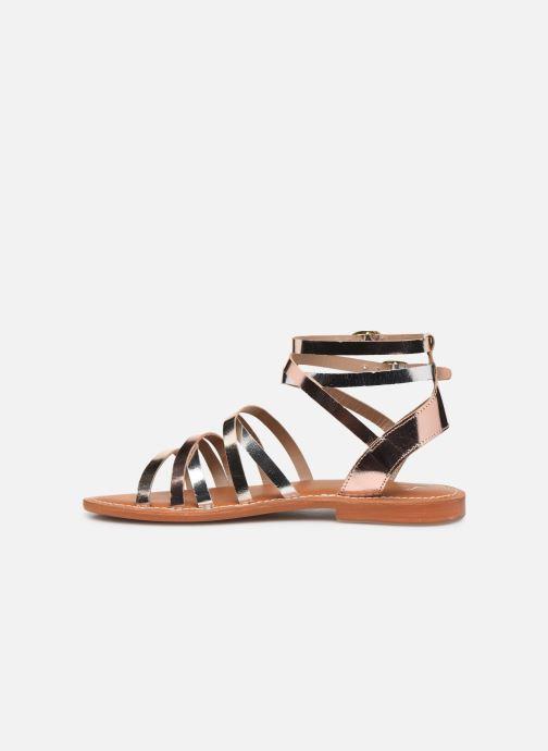 Sandales et nu-pieds L'Atelier Tropézien Juliette Or et bronze vue face