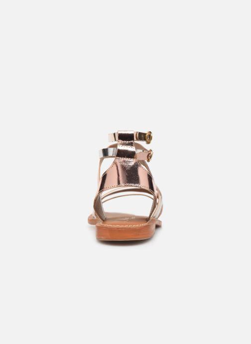 Sandales et nu-pieds L'Atelier Tropézien Juliette Or et bronze vue droite