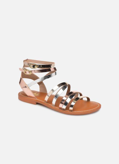 Sandales et nu-pieds L'Atelier Tropézien Juliette Or et bronze vue détail/paire