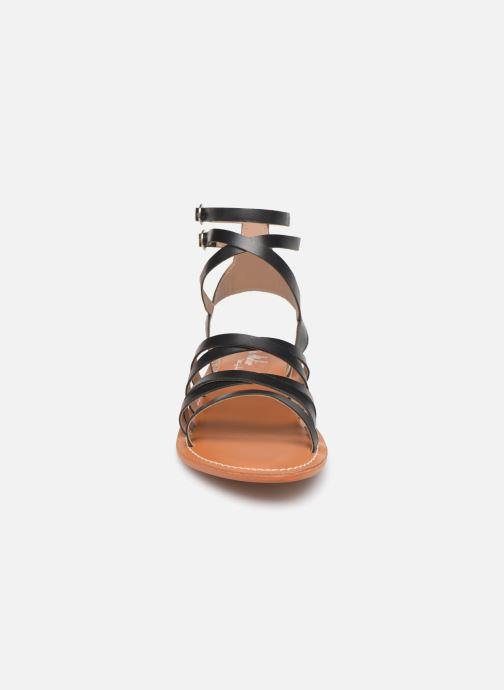 Sandales et nu-pieds L'Atelier Tropézien Juliette Noir vue portées chaussures