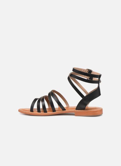 Sandales et nu-pieds L'Atelier Tropézien Juliette Noir vue face