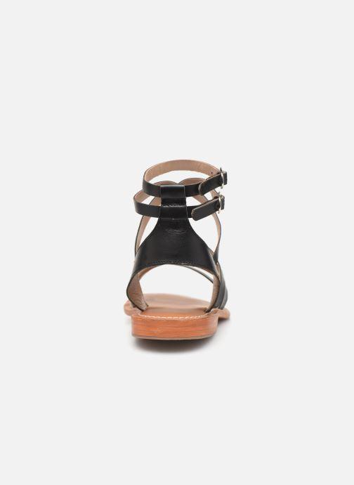 Sandales et nu-pieds L'Atelier Tropézien Juliette Noir vue droite