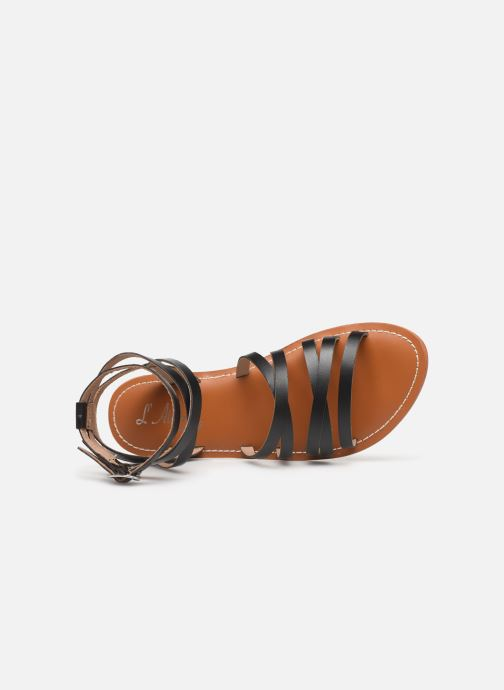 Sandales et nu-pieds L'Atelier Tropézien Juliette Noir vue gauche
