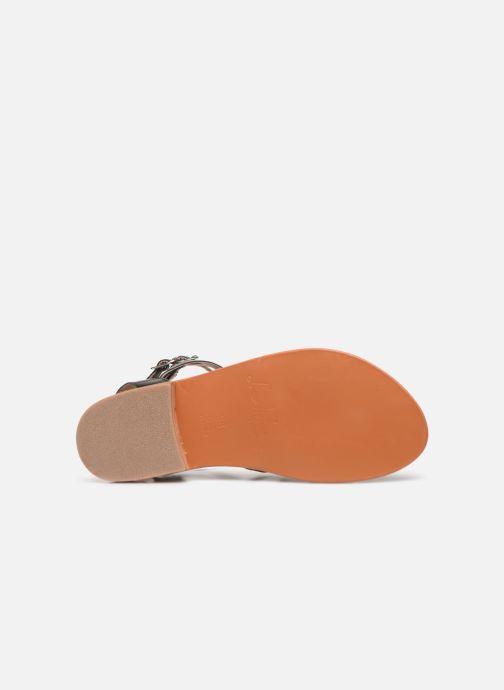 Sandales et nu-pieds L'Atelier Tropézien Juliette Noir vue haut