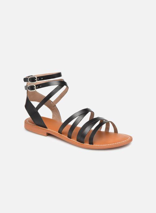 Sandales et nu-pieds L'Atelier Tropézien Juliette Noir vue détail/paire