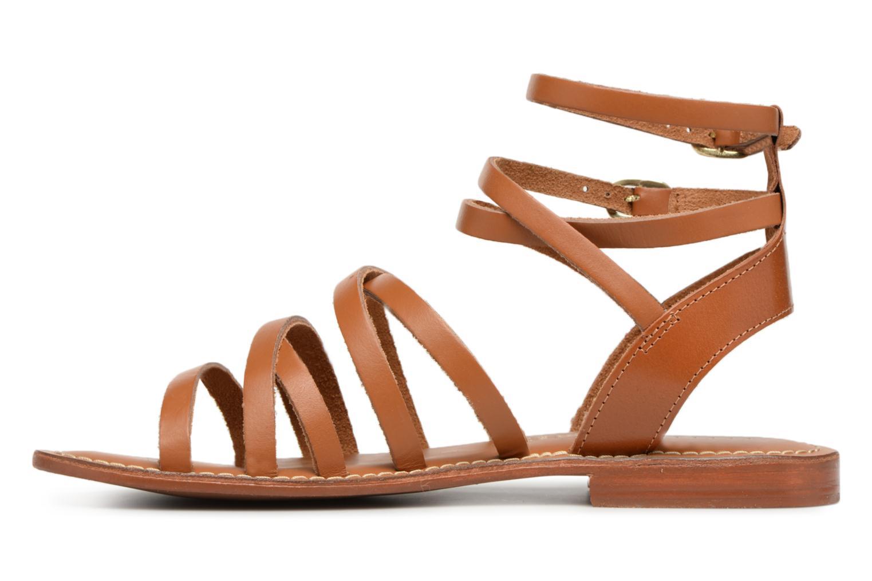Sandales et nu-pieds L'Atelier Tropézien Juliette Marron vue face