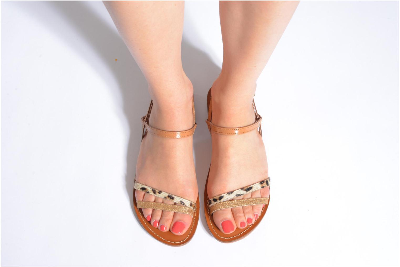 Sandales et nu-pieds L'Atelier Tropézien Laurette Noir vue bas / vue portée sac