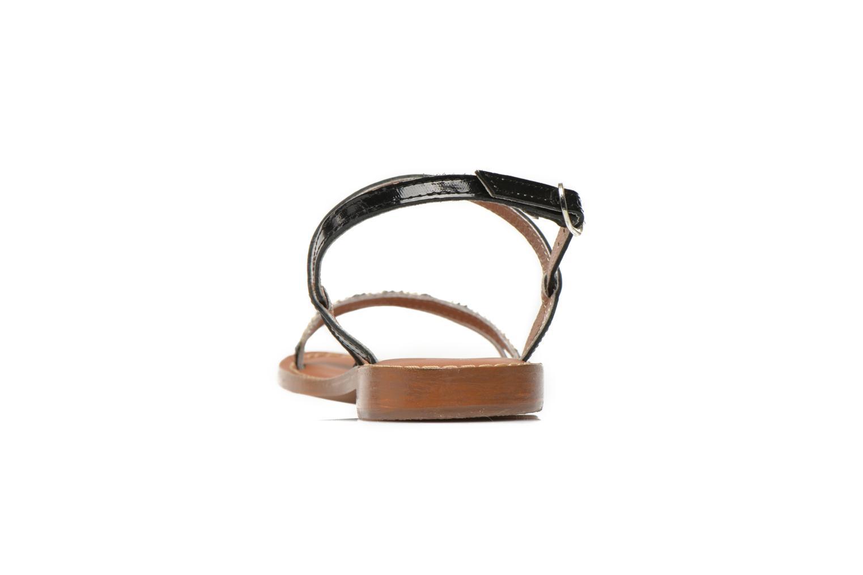 Sandales et nu-pieds L'Atelier Tropézien Laurette Noir vue droite