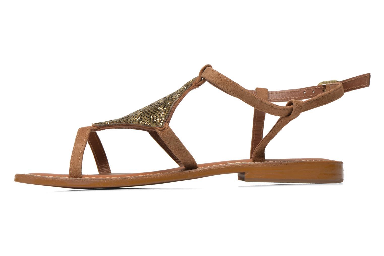 Sandals L'Atelier Tropézien Lucette Brown front view