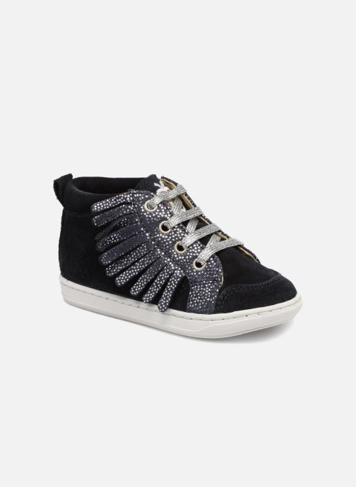 Ankle boots Shoo Pom Bouba Lace Fringe Blue detailed view/ Pair view