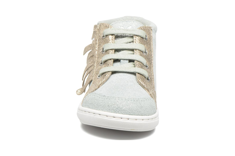 Ankle boots Shoo Pom Bouba Lace Fringe Blue model view