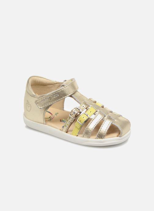 Sandales et nu-pieds Shoo Pom Pika Spart Or et bronze vue détail/paire