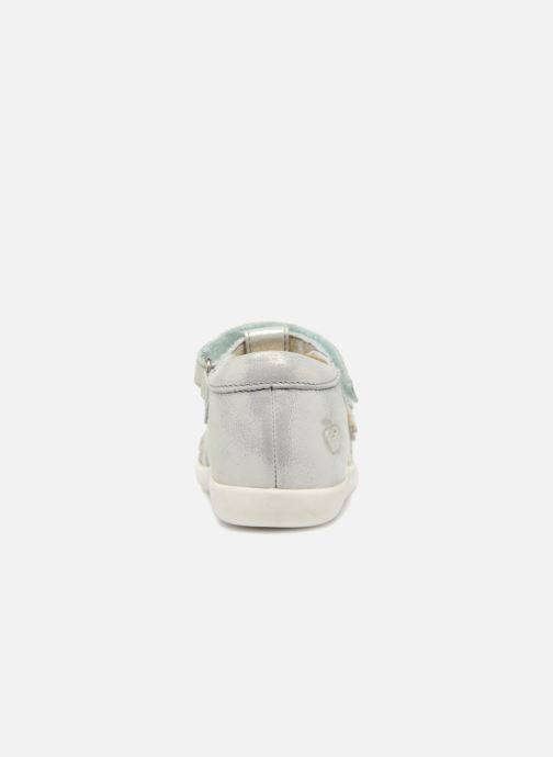 Sandals Shoo Pom Pika Spart Silver view from the right