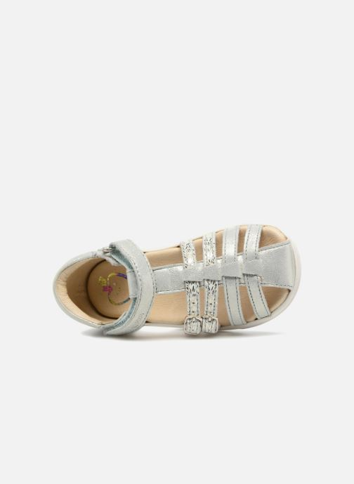 Sandals Shoo Pom Pika Spart Silver view from the left