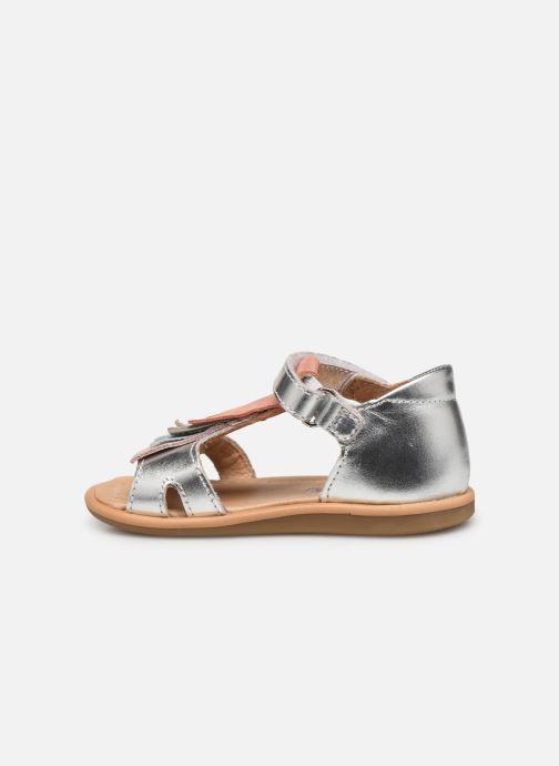 Sandales et nu-pieds Shoo Pom Tity Fringe Argent vue face